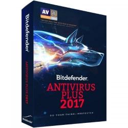 Bitdefender Antivirus Plus 2017 3 user/2 ani, Base Electronic