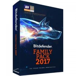 Bitdefender Family Pack 2017 Utilizatori Nelimitati/1 an, Base Electronic
