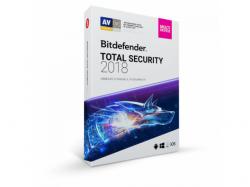 Bitdefender Total Security 2018, 3 user/1 an, Base Retail