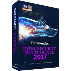 Bitdefender Total Security Multi-Device 2017 5 user/3 ani, Base Electronic