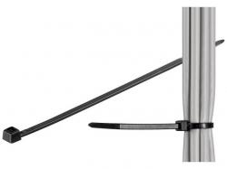 Brida (colier) 3.5x140mm, plastic, negru, pentru cabluri de exterior 140-3,5-WR-BU100