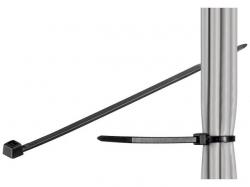 Brida (colier) 3.5x290mm, plastic, negru, pentru cabluri de exterior 290-3,5-WR-BU100
