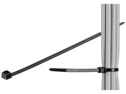 Brida (colier) 4.5x290mm, plastic, negru, pentru cabluri de exterior 290-4,5-WR-BU100