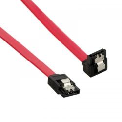Cablu 4World, cablu de date intern SATA 3, 30cm, drept, cu blocare, rosu