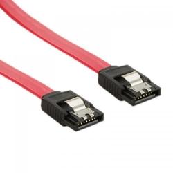 Cablu 4World, cablu de date intern SATA 3, 60cm, drept, cu blocare, rosu
