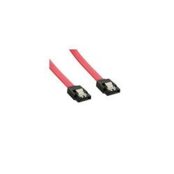 Cablu 4World, SATA 7pin - SATA 7pin, 0.29m, Red