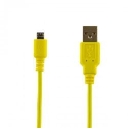 Cablu 4World, USB 2.0 MICRO 5pini, AM / B MICRO transfer/incarcare OEM, 1.0m, galben