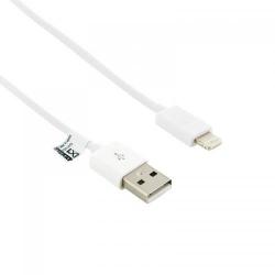Cablu de date 4World, USB - Lightning, 1m, White