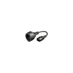 Cablu adaptor alimentare Gembird 0.15m PC-SFC14M-01 C14 M/Schuko F