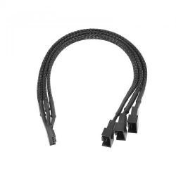 Cablu Akyga AK-CA-65,4 pinfemale - 2x 4 pin male + 1x 3 pin male, 0.25m, Black