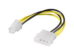 Cablu alimentare 5.25 tata - P4 tata 0.16m; Cod EAN: 4040849513626
