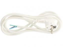 Cablu alimentare cu fisa Schuko 3x1mmp 2m alb Well ; Cod EAN: 5948636022599