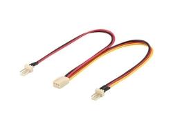 Cablu alimentare PC 2x Fan (3pin) tata - Fan mama (3pin), Goobay; Cod EAN: 4040849938801
