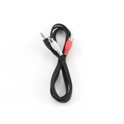 Cablu audio Gembird, Blister, 3.5 mm jack male - 2x 3.5 mm jack male, 1.5m, Black