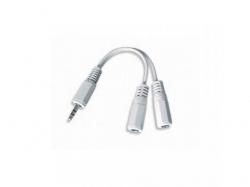 Cablu Audio spliter 3.5 jack to 2 x stereo socket, 10cm, CCA-415W