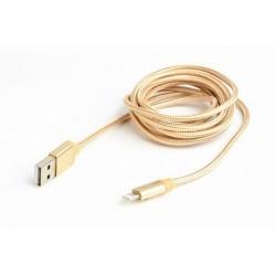 Cablu de date Gembird, USB 2.0 - Lightning, 1.8m, Gold