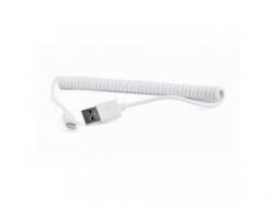 Cablu de date Gembird, USB - Lightning, 1.5m, White
