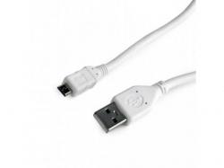 Cablu de date Gembird, USB - microUSB, 3m, White  CCP-MUSB2-AMBM-W-10
