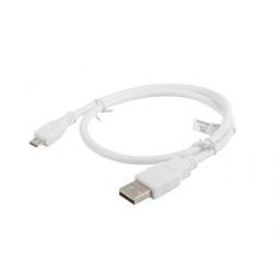 Cablu de date Lanberg, USB 2.0 - micro USB, 0.5m, White