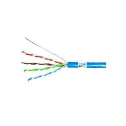 Cablu de retea Schrack CHN HSEKF424P, F/UTP, Cat5e, cupru solid, 305m, Blue