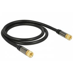 Cablu extensie antena Delock F Plug - F Plug, 1m