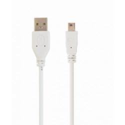 Cablu Gembird, USB 2.0 A - mini USB 5PM, 1.8m, White, Bulk