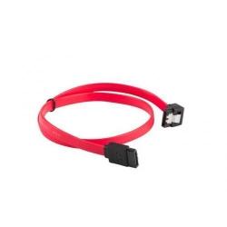 Cablu Lanberg CA-SASA-13CC-0030-R, SATA - SATA, 0.30m, Red