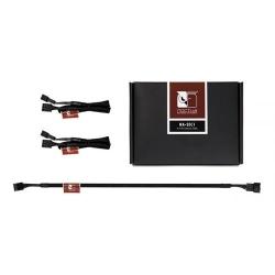 Cablu Noctua,  3x 4-pin female - 3x 4-pin male, 0.3m, Black
