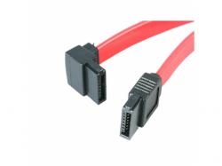 Cablu plat Gembird, SATA drept - SATA indoit la 90grade, 50cm, Red, Bulk