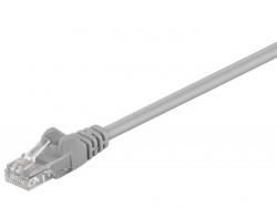 Cablu retea (patch) CAT5e UTP 0,5m 2xRJ45, neecranat, gri UTP-GY/0,5-BU