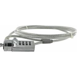Cablu securitate notebook 4World cu cifru