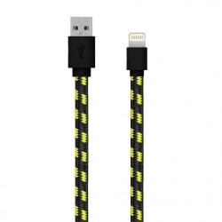 Cablu de date Serioux, USB 2.0 - Lightning, 1m, Black