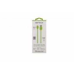 Cablu de date Serioux, USB 2.0 - Lightning, 1m, Green