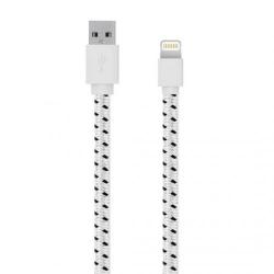 Cablu de date Serioux, USB 2.0 - Lightning, 1m, White