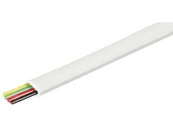 Cablu telefon plat 4 fire 100m, alb, aluminiu cuprat C4-CCA-WE/100