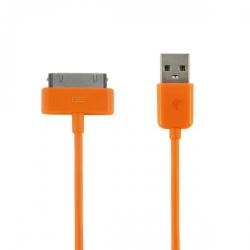 Cablu USB 2.0 4World pentru iPad/iPhone/iPod transfer/incarcare OEM, 1.0m, portocaliu