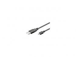 Cablu USB - microUSB  negru 0.6m Goobay; Cod EAN: 4040849939228