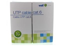 Cablu UTP cat.6, 8 fire din cupru, 305m, Well ; Cod EAN: 5948636012910 - pret pe metru liniar