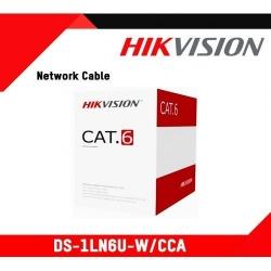 Cablu UTP Hikvision DS-1LN6U-W/CCA, Cat 6, Cutie 305m