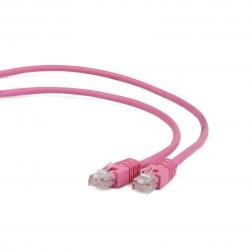 Cablu UTP Patch cord cat. 5E, 1m, Gembird, PP12-1M/RO, roz