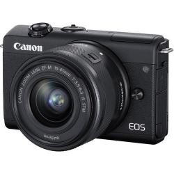Camera foto Mirrorless Canon M200, 24.1 MP, Black + Obiectiv 15-45mm, Black