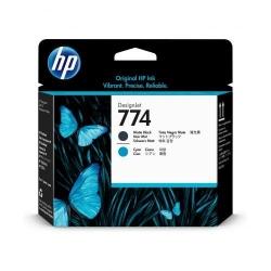 Cap Printare HP 774 MATTE BLACK/CYAN - P2W01A