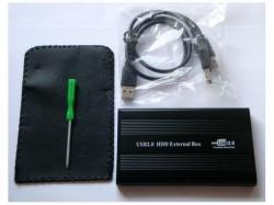 Carcasa (rack) metalica pentru HDD 2.5'' SATA cu port USB 2.0 MOBSTORE2-2.5-BX