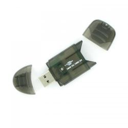 Card Reader 4World 03355, USB 2.0, Black
