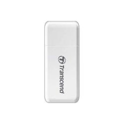 Card Reader Transcend USB 3.1 Gen 1 SD/microSD, White