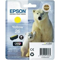 Cartus Cerneala Epson Yellow 26 - C13T26144010
