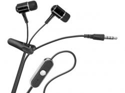 Casca multimedia cu microfon pentru iPod si iPhone, 3.5mm stereo plug, cablu 1.15m IPH-BK-BL
