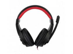 Casti cu microfon Gembird GHS-01, Black-Red