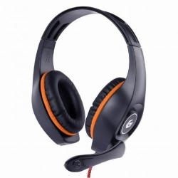 Casti cu microfon Gembird GHS-05-O, Black-Orange