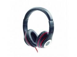 Casti cu microfon Gembird MHS-LAX-B, Black-Red